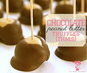 jump on the Stevia bandwagon, learn to THM-it-up without depriving yourself, and enjoy the holiday season with these THM Chocolate Peanut Butter Truffles {THM:S}