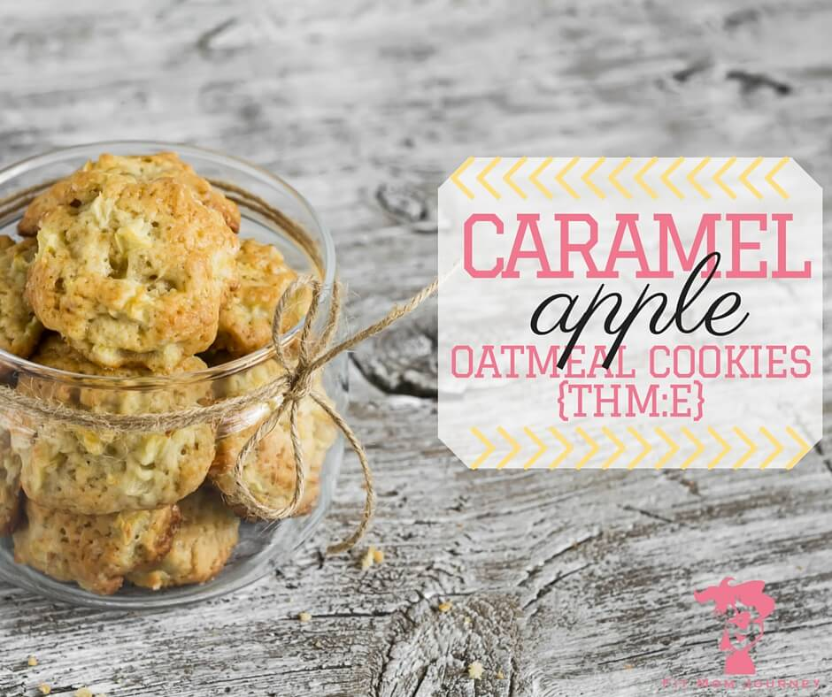 A moist, delicious THM E oatmeal cookie that amps up the flavor with caramel and apples!