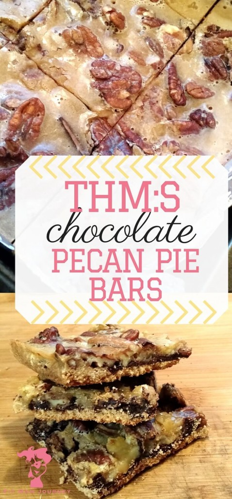 These THM Pecan Pie bars are buttery, gooey, delicious, and they even have a secret layer of chocolate for an absolutely indulgent THM:S Dessert!