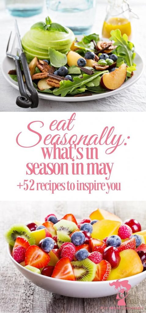 One of the best ways to eat for your health and wallet is to eat seasonally! In May, tons of great produce comes into season, and I've collected 52 delicious recipes to inspire your THM journey!