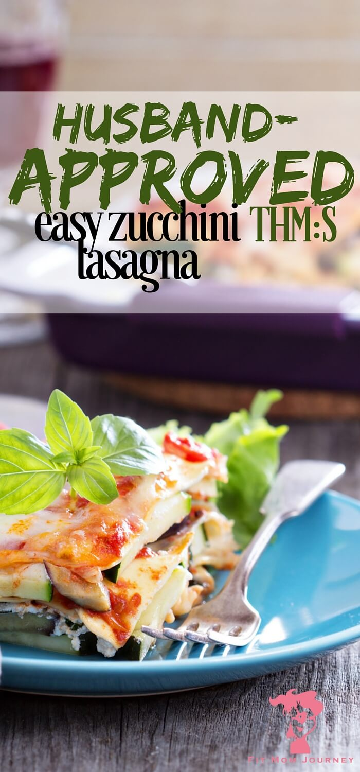 """If you're in the mood for a delightful S lasagna, or have been struggling to get your family on board with """"no noodle"""" noodles, give this husband-approved easy zucchini lasagna a try! Trust me, you won't be disappointed!"""