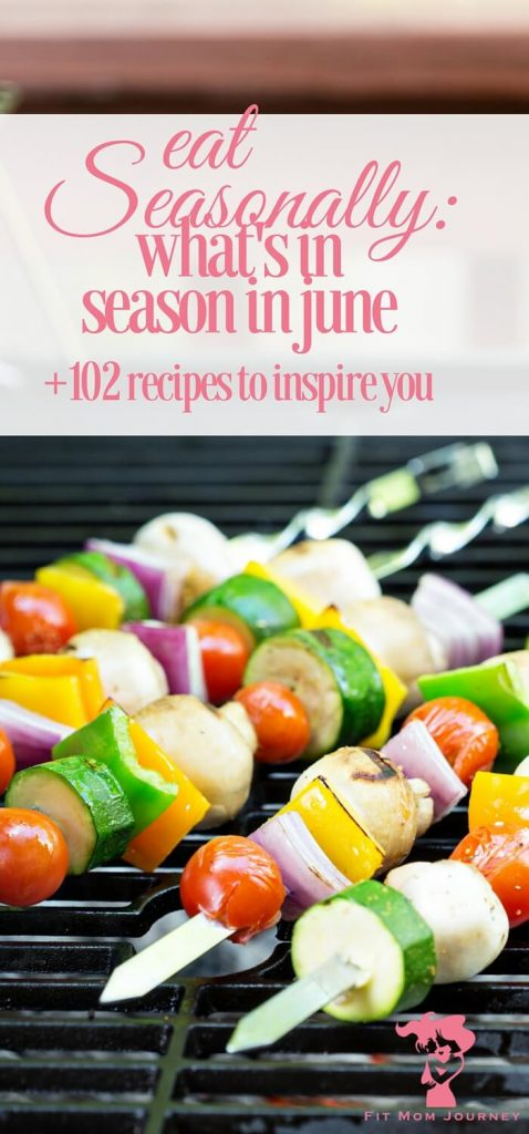 What's in season in June?  Eat seasonally with these 102+ Trim Healthy Mama friendly recipes that will go easy on your waistline and wallet.