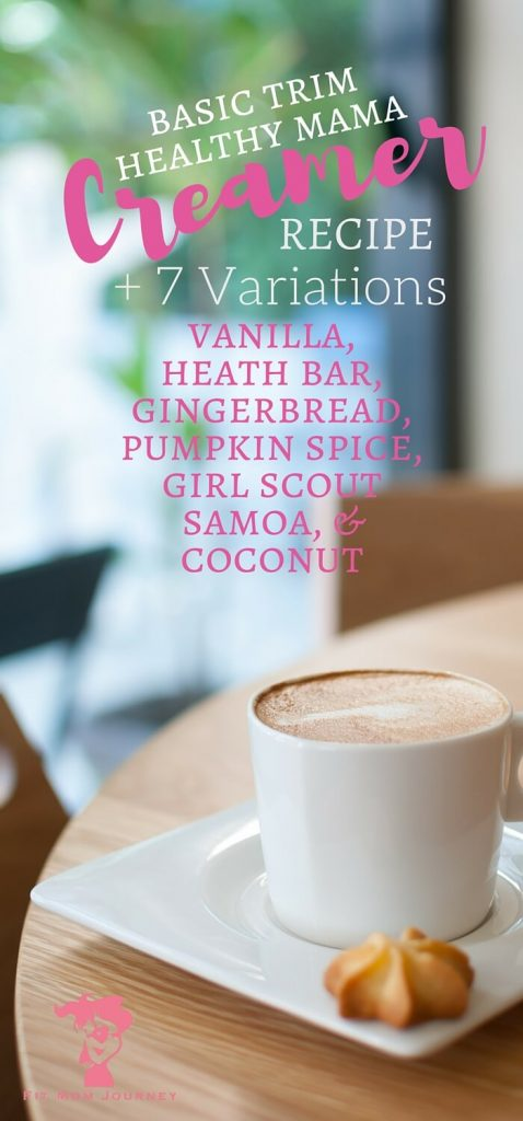 Love coffee and Trim Healthy Mama? Well I've got a Trim Healthy Mama Coffee Creamer recipe + 7 variations including Pumpkin Spice, Caramel, and Samoa that don't disappoint!