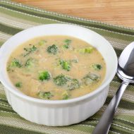 Quick Crockpot Cheesy Chicken Broccoli Soup THM:S