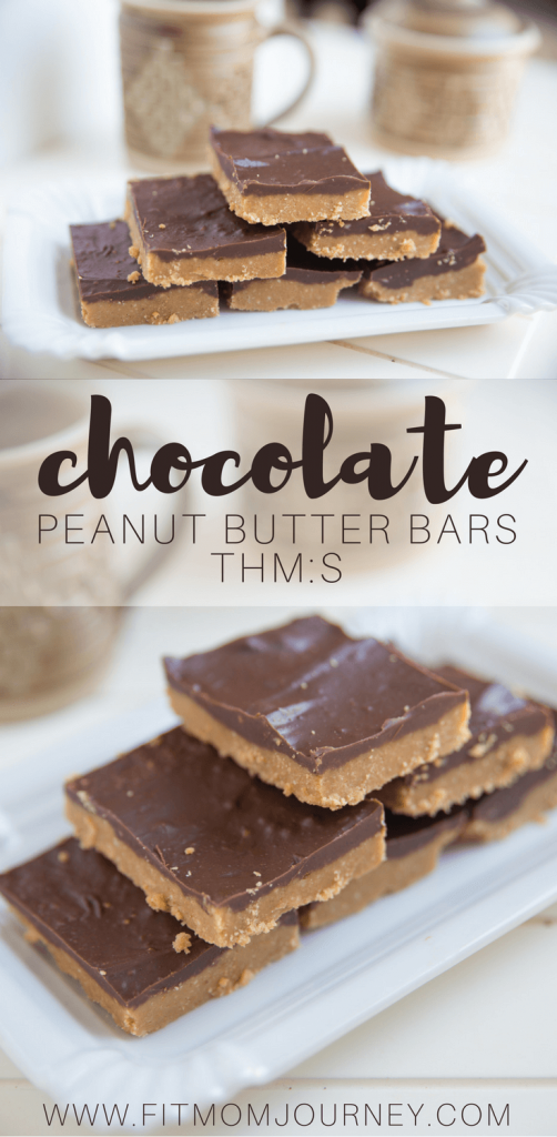 A chocolate/peanut butter fix is exactly what I needed, and these Trim Healthy Mama Chocolate Peanut Butter Bars fit the bill perfectly! These bars are the perfect combination of chewy, chocolatey, and peanut-buttery goodness that remind me of those Sunbelt Chocolate Peanut Butter granola bars.