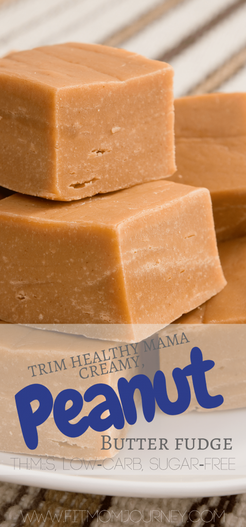 This Trim Healthy Mama Peanut Butter Fudge is sure to satisfy even the most powerful of sweet cravings! It's packed with protein and perfect for the holidays season or anytime!