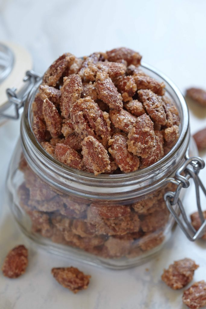 I have a baking addiction, but when it comes to gifts, not much comes close to these Trim Healthy Mama Spiced Pecans. Wrap them up in little gift bags and you have an easy & affordable Christmas gift!