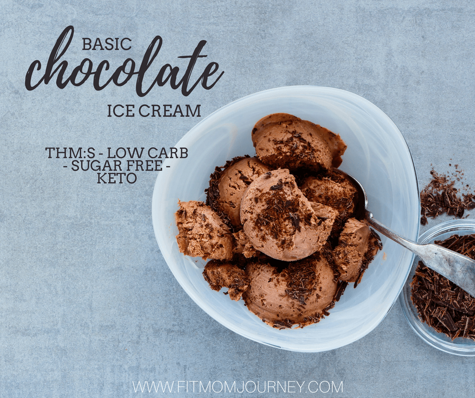 My Trim Healthy Mama Chocolate Ice Cream comes together in about 20 minutes and is sugar free, low carb, a THM:S, and ketogenic! It's as delicious as it is easy!