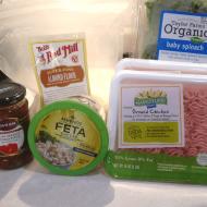 Spinach, Tomato, and Feta Chicken Burgers