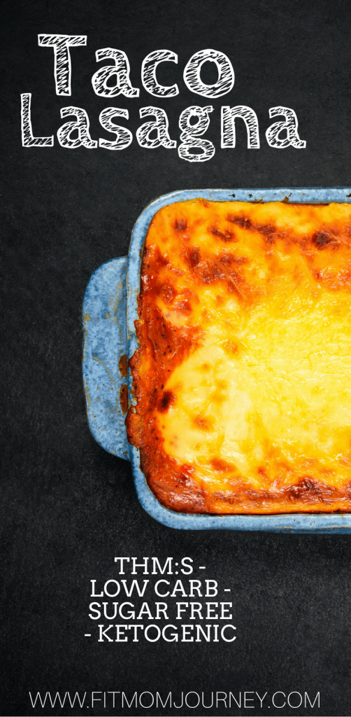 Looking for a quick weeknight dinner? Try my Trim Healthy Mama Taco Lasagna! It's THM:S, low carb, grain free, ketogenic, and is on the table in 30 minutes or less - only 7 ingredients required!