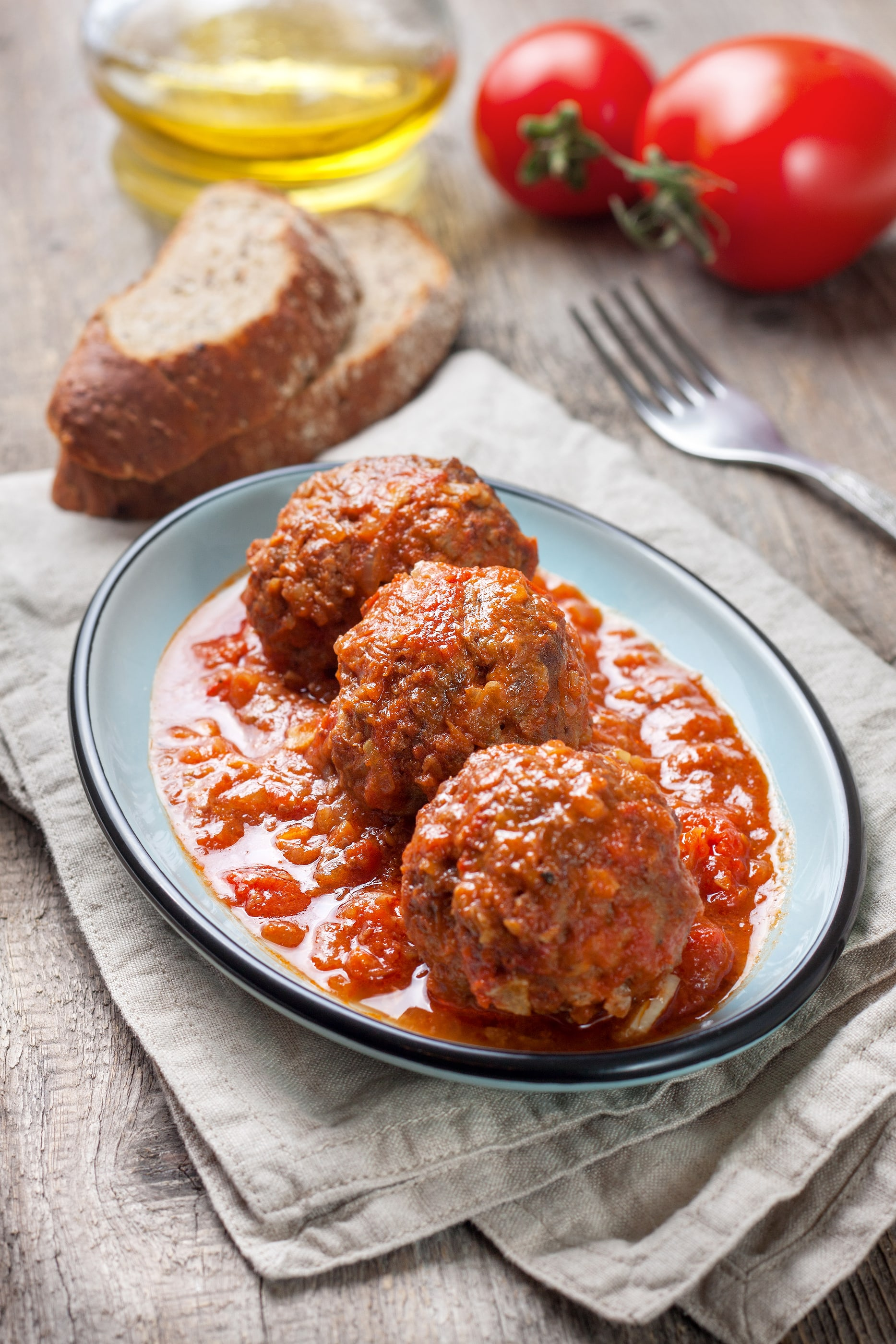 Low Carb Mozzarella Stuffed Meatballs