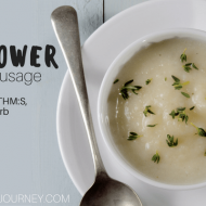 InstantPot Whole30 Cauliflower Soup with Sausage (Whole30, Paleo, THM:S, Keto, Low Carb)