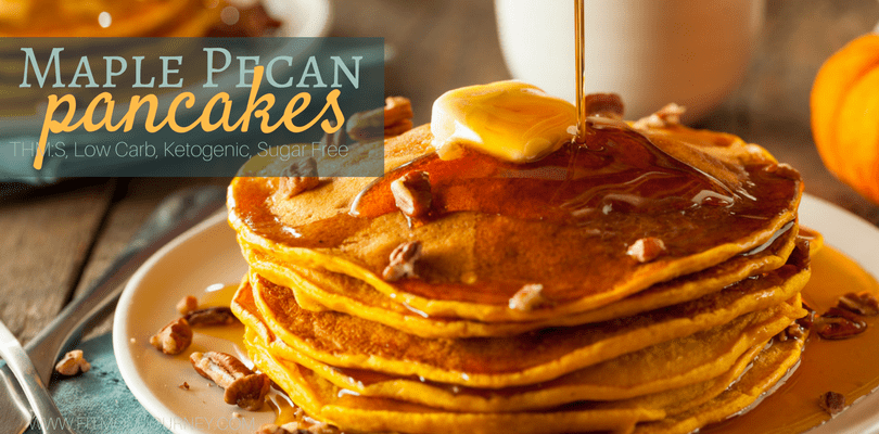 Are your taste buds ready for Maple Pecan Almond Flour Pancakes (Keto, THM:S, Low Carb, Sugar Free)? Your entire family will LOVE these and they're easy to whip up in the morning!