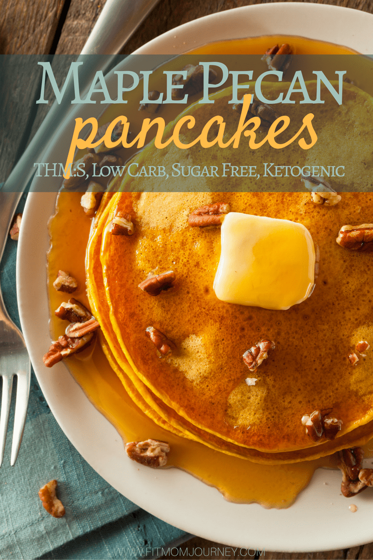 Maple Pecan Keto Almond Flour Pancakes (THM:S, Ketogenic, Low Carb, Grain Free)