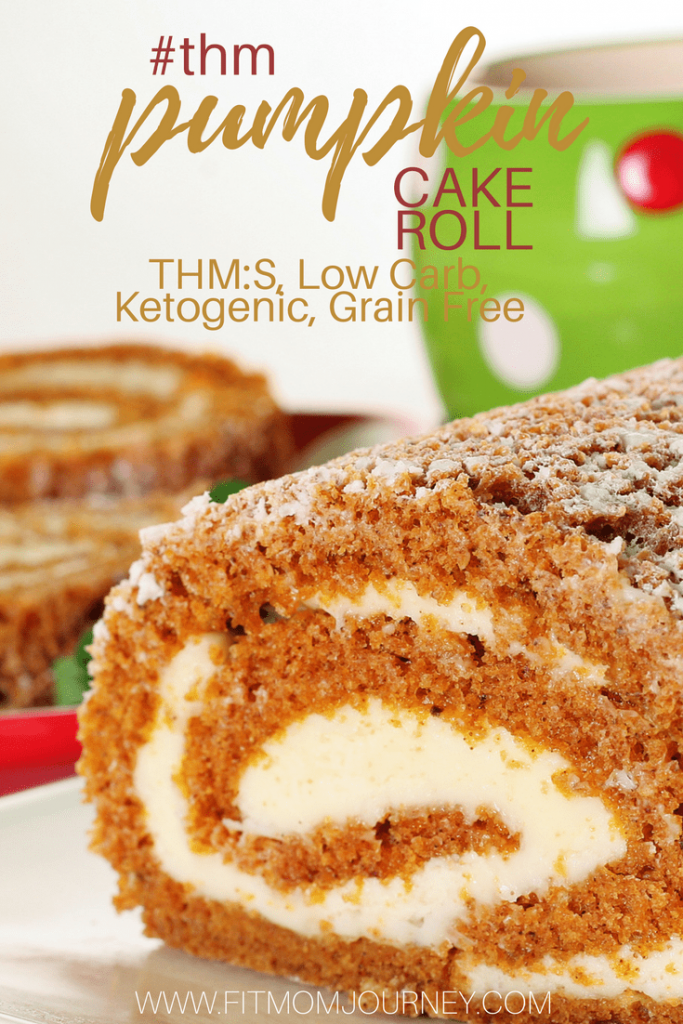 Let's get our pumpkin spice on with a Pumpkin Cake Roll - Cream Cheese Filing. This recipe is a THM:S, Low Carb, Grain Free and Ketogenic - also Husband approved!