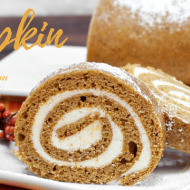 Trim Healthy Mama Pumpkin Cake Roll – Cream Cheese Filling (THM:S, Low Carb, Ketogenic, Grain Free)