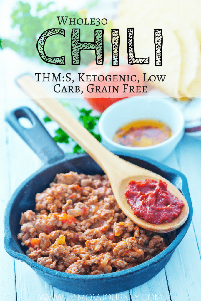 Save your weeknights with my InstantPot Whole30 Chili recipe. Start with frozen ground beef and have dinner on the table in 30 minutes!