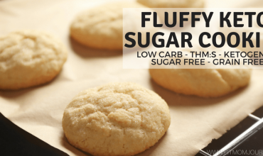 Fluffy Keto Sugar Cookies (THM:S, Low Carb, Sugar Free, Grain Free)