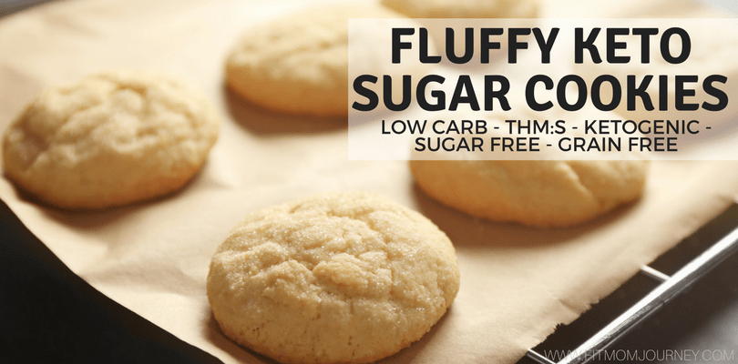 Fluffy Keto Sugar Cookies (THM:S, Low Carb, Ketogenic, Sugar Free, Grain Free)
