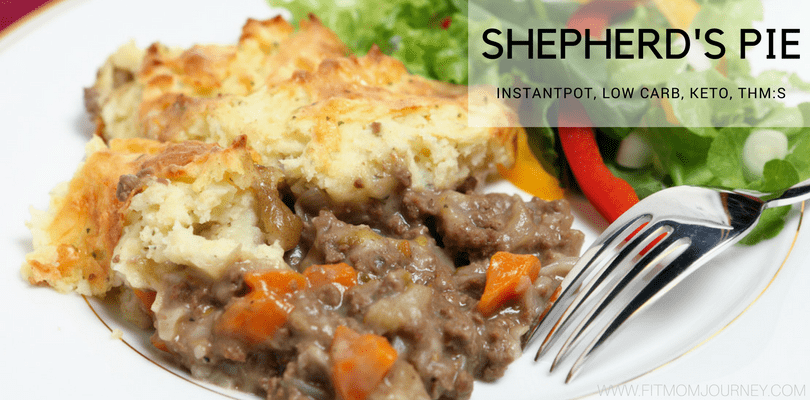 Make this Low Carb Shepherds Pie recipe in the InstantPot for easy, Keto and THM:S comfort food! A husband-approved recipe that comes together quickly and keeps well in the fridge and freezer.