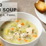 Whole30 Chicken Soup (Chicken Pot Pie Soup)