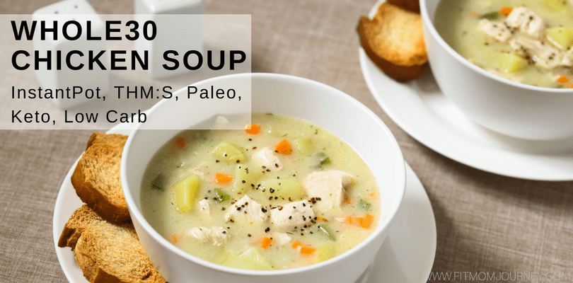 Whole30 Chicken Soup (Chicken Pot Pie Soup)