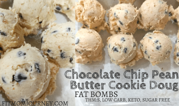 Chocolate Chip Cookie Dough Peanut Butter Fat Bombs