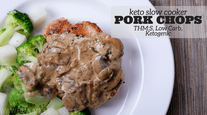 I love these Keto Slow Cooker Ranch Pork Chops because they're delicious, easy to make, and have only a few ingredients. They're a THM:S, low carb, and Ketogenic!