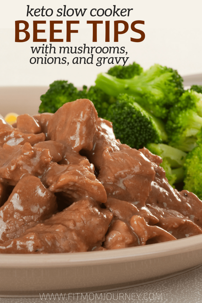 But besides beef being the main ingredient in these Keto Beef tips, there are two main reasons I love making this recipe: it requires only 4 ingredients + my slow cooker, and because it's a great way to use up my ButcherBox grass-fed beef tips!