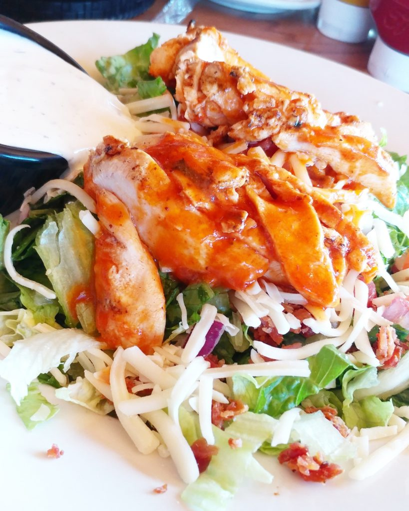 All the flavor of delicious buffalo wings in one salad! My Keto Buffalo Chicken Salad is easy to make, extremely keto-friendly, and full of healthy fats!