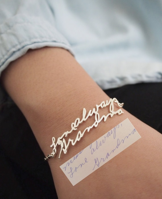 handwriting bracelet - mother's day gifts 2018