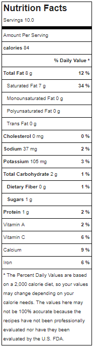 keto lime popsicles nutrition