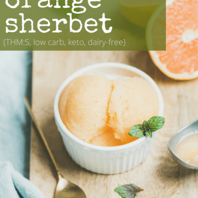 Sugar Free Orange Sherbet
