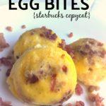 Keto Copycat Starbucks Sous Vide Egg Bites