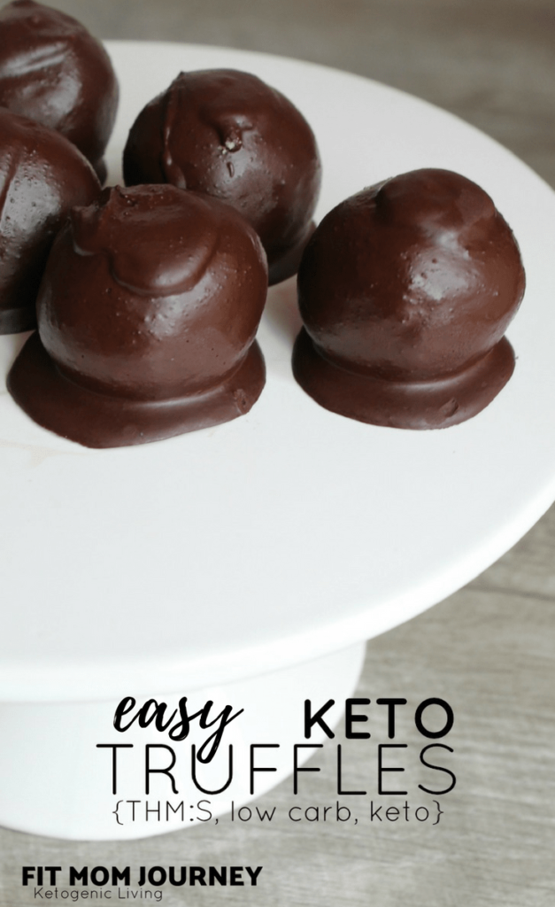 These Keto Truffles (with keto cake pop option) are delicious bites filled with cake and icing, and coated with a delicious chocolate so good you won't miss sugar!  They're so easy to make even the kids can help!