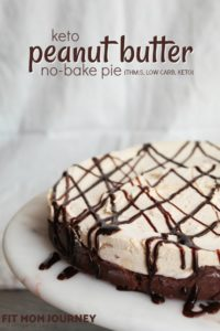 No-Bake Keto Peanut Butter Pie