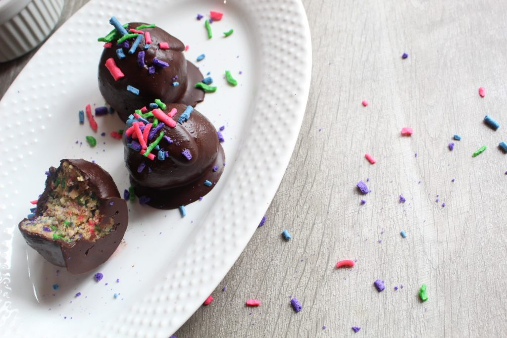 Who doesn't love sprinkles! My Keto Funfetti Truffles are packed with colorful sprinkles, tender cake, and delicious icing for a delectable treat that feels so guilty but is actually sugar-free and ketogenic!
