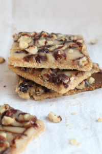 Keto Shortbread with Hazelnuts and Caramel