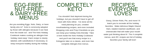 Keto Holidday Cookbook