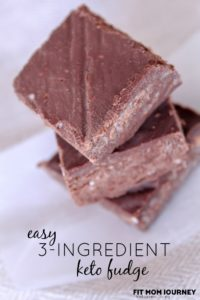Easy 3-Ingredient Keto Fudge