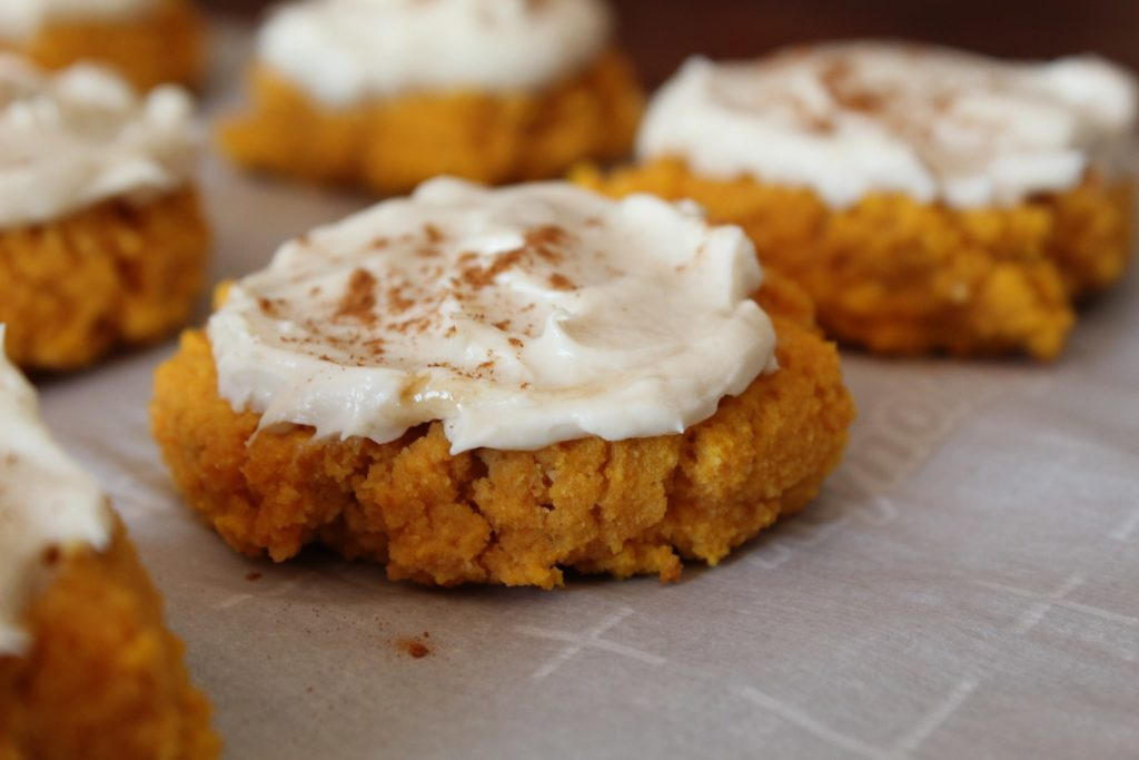 Softer than a regular sugar cookie, my Keto Pumpkin Cookies with Maple Cream Cheese Frosting are even more delicious.