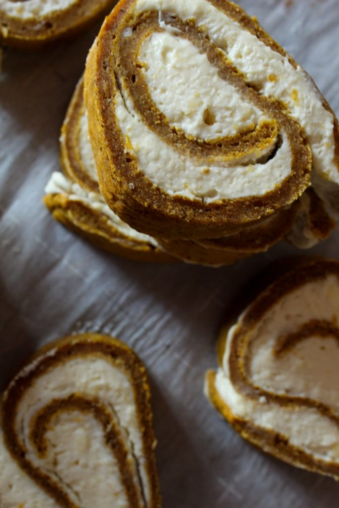 Keto Pumpkin Roll: A Pumpkin Cake Roll with Cream Cheese filling was delicious and a fall staple around our house - until we went Keto. I modified my recipe to make a Keto Pumpkin Roll with Cream Cheese filling and I know you're going to love it!