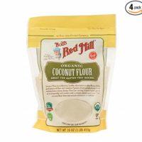 BOB'S RED MILL, Flour, Og2, Coconut, Pack of 4, Size 16 OZ, (Gluten Free Kosher 95%+ Organic)