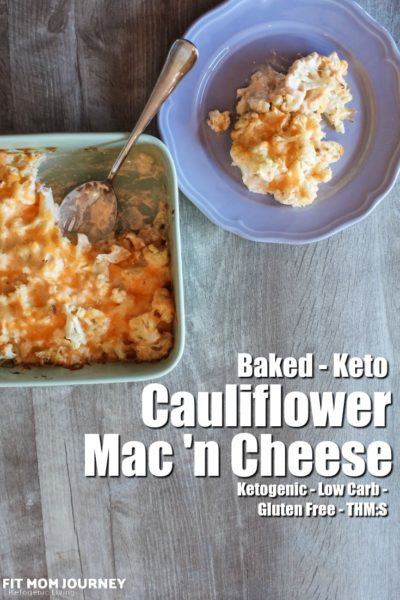 This Baked Cauliflower Mac & Cheese Casserole features some classic keto ingredients: heavy cream, a good dose of cheddar cheese, butter, and spices that'll make your mouth water.