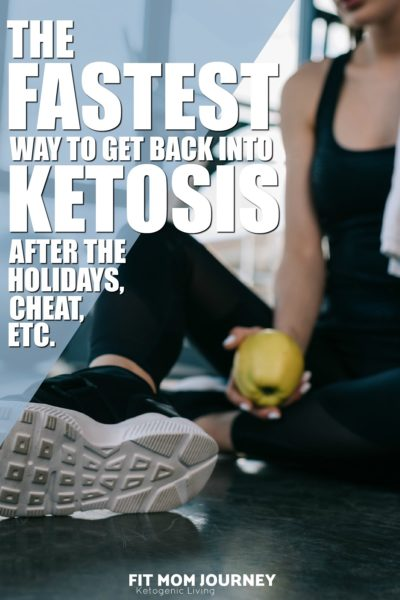 Here's the fastest way to get back into ketosis after the holidays, a cheat day, or just plain falling off the wagon! If you are struggling to get back into ketosis, these tips will help you....