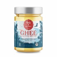 Himalayan Pink Salt Grass-Fed Ghee Butter by 4th & Heart, 16 Ounce, Pasture Raised, Non-GMO, Lactose Free, Certified Paleo, Keto-Friendly