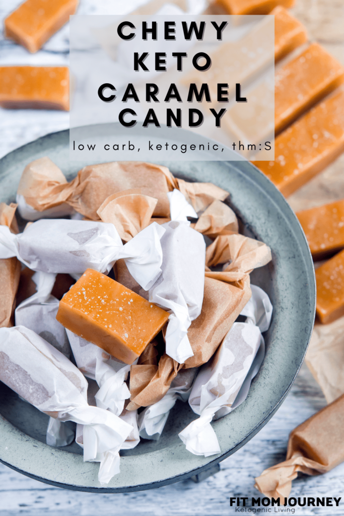These Chewy Keto Caramel Candies are so good you won't miss the real thing! Delicious, chewy, and kid-approved!