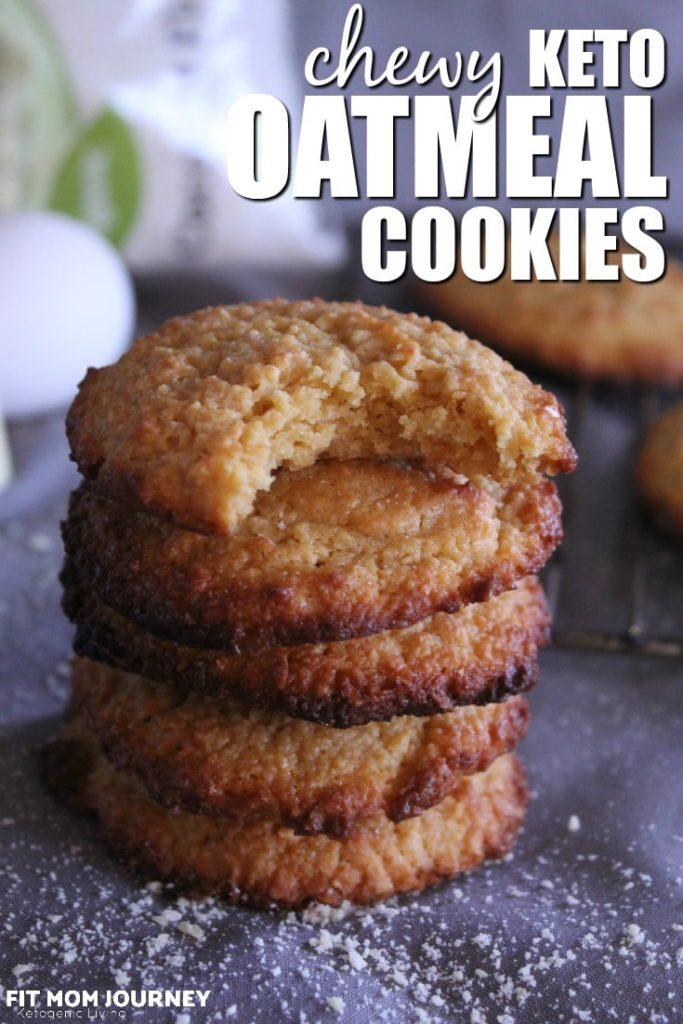 """These Keto """"Oatmeal"""" Cookies are not only chewy and delicious, they taste just like traditional oatmeal cookies, but are completely sugar-free, grain-free, gluten-free, and super low carb. You'll fool everyone into thinking they're the real thing!"""