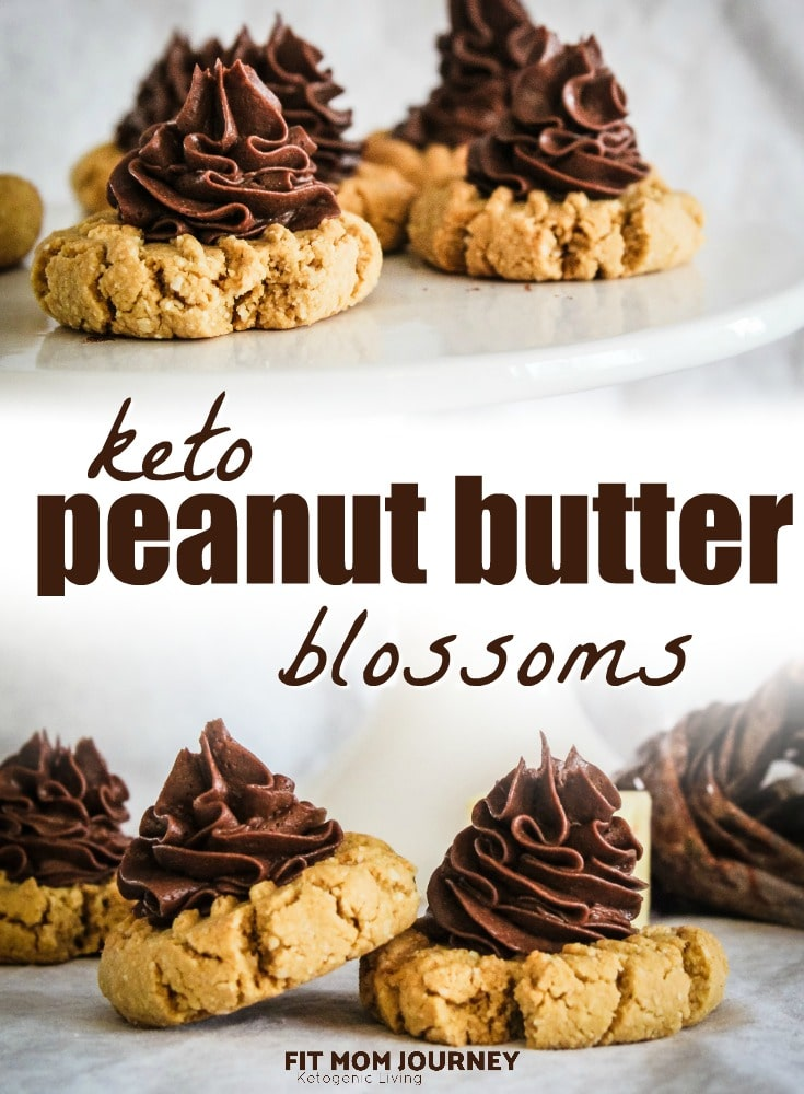Your favorite Christmas treat, Peanut Butter Blossoms, make keto! Keto Peanut Butter Blossoms are a duplicate of the original recipe, but better for you and your family!