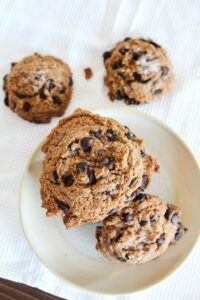 Perfectly chewy and melty, these Chewy Keto Chocolate Chip cookies have a sprinkle of sea salt for the perfect taste and texture.  Serve them warm for  taste of home!
